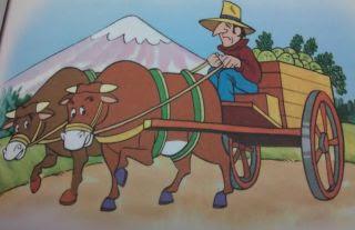 Los bueyes y el eje de la carreta fabulas infantiles