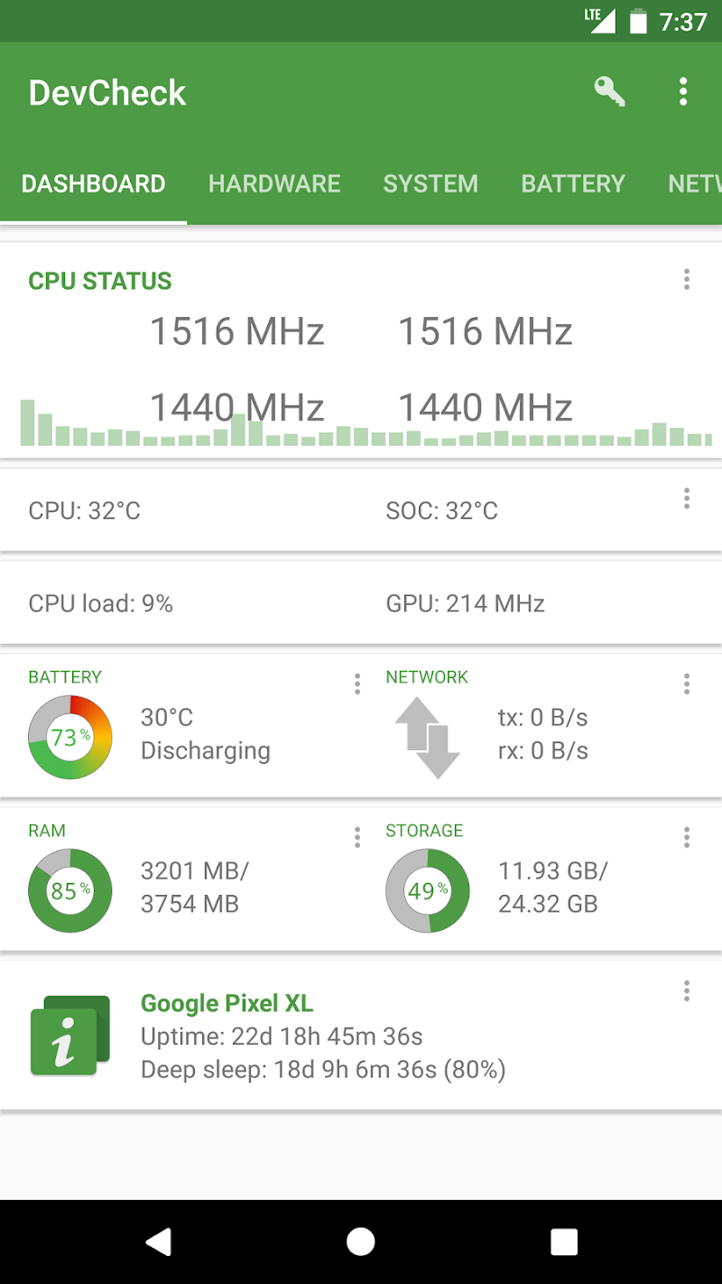 DevCheck Hardware and System Info Screenshot