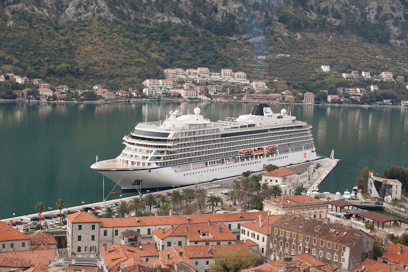 Viking Star sits dockside, right in the heart of historic Kotor, Montenegro.
