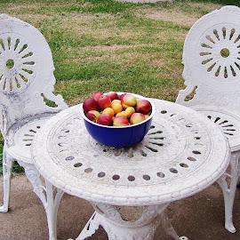 Fresh Fruit Time by Sarah Harding - Novices Only Objects & Still Life ( colour, still life, food, novices only, garden )