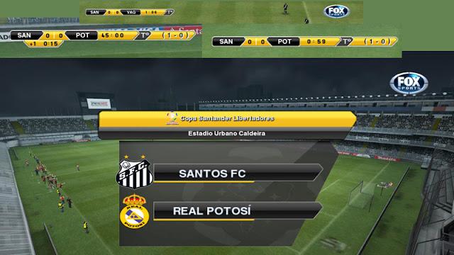 Scoreboard Libertadores - PES 2013