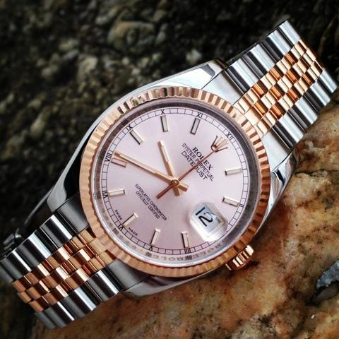 Gracio Fine Watches N A Rolex Datejust Everose Pink