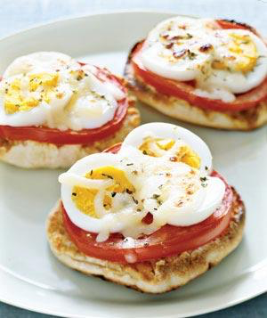 Egg Pizza english muffin