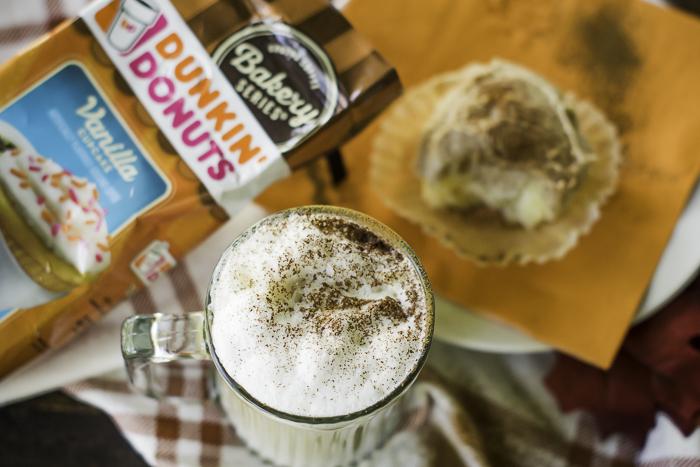 Dunkin' Donuts Vanilla Cupcake bakery series coffee