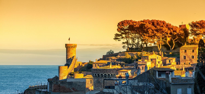 Atardecer en Tossa de Mar, Girona