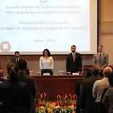 MINISTRA DE JUSTICIA Y PAZ EXPONE LOGROS Y RETOS DEL SISTEMA PENITENCIARIO