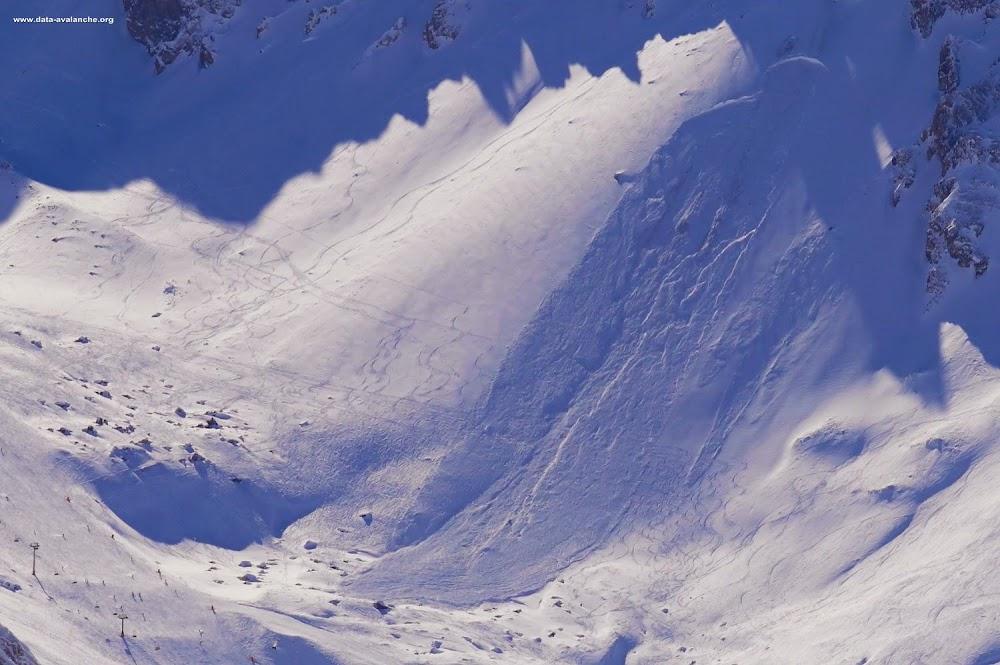 Avalanche Haute Tarentaise, secteur Tignes, Rocher de la Grande Balme - Photo 1 - © Duclos Alain