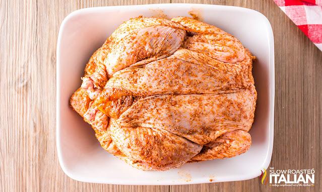Seasoned Smoked whole chicken recipe
