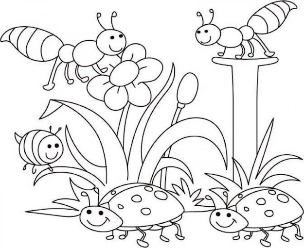Spring Outline Coloring Pages Free Image