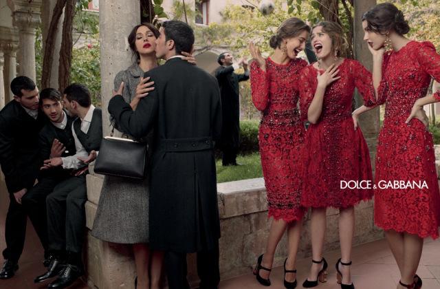 *戲劇性的拍攝手法:Dolce & Gabbana 2013秋冬形象照 6