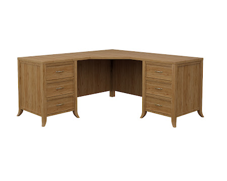 Strafford L-Shaped Desk in Classical Maple