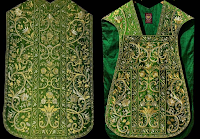Emerald and Gold -- New Embroidery Work from Sacra Domus Aurea