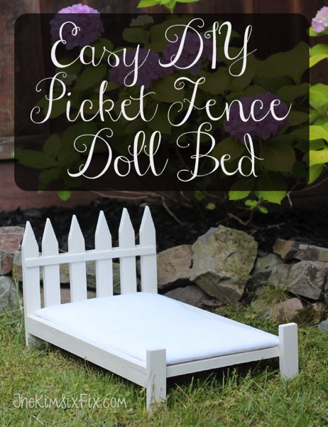 Easy DIY Picket Fence Doll Bed