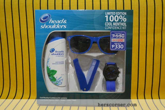 Head & Shoulders Shampoo with Limited Edition Cool Menthol Confidence Kit