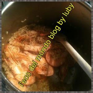 risotto ai gamberetti in pentola a pressione
