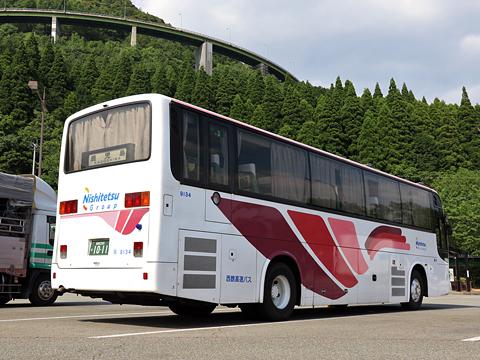 西鉄高速バス「桜島号」 9134 リア えびのPAにて