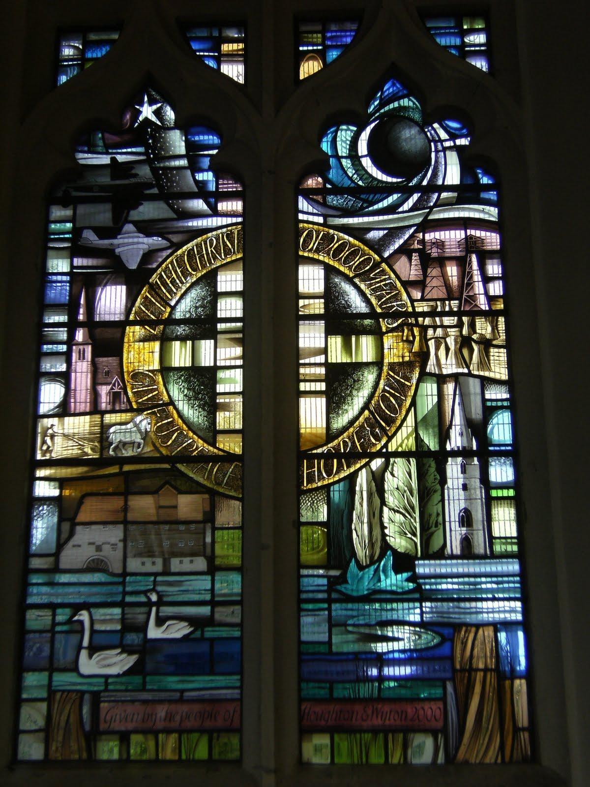 DSCF9466 Millennium window, Houghton church