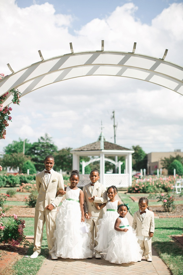 Family Themed Rose Garden Wedding Ceremony Tidewater And