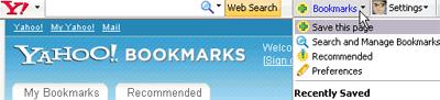 Yahoo! Toolbar bookmarks