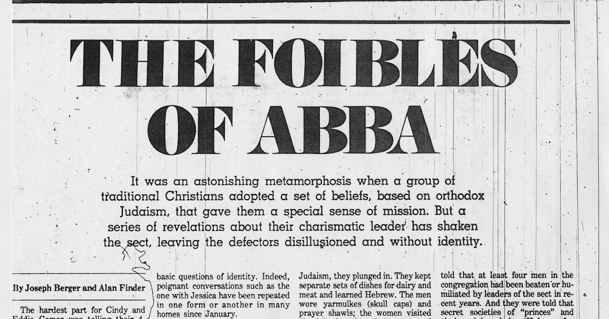 But Seriously: The Foibles of Abba: yes, I still can't