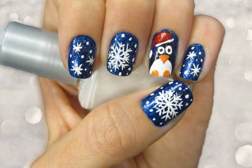 snowflakes design christmas nail art black snowflakes and snowman christmas nail art blue and white snowman design christmas nail art blue christmas - Blue Christmas Nails