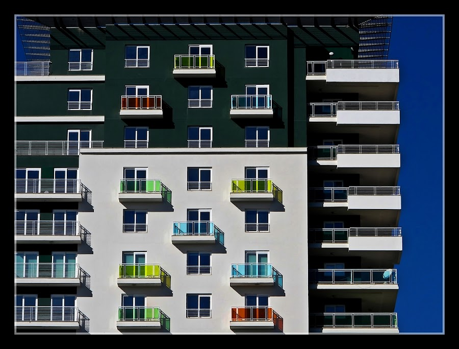 Modern architecture by Francis Xavier Camilleri - Buildings & Architecture Architectural Detail ( patterns, blue sky, sliema, malta, colors, balconies,  )