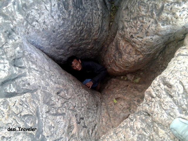 Man inside Baobab Tree