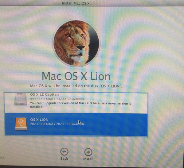 INstrall OS X LIon