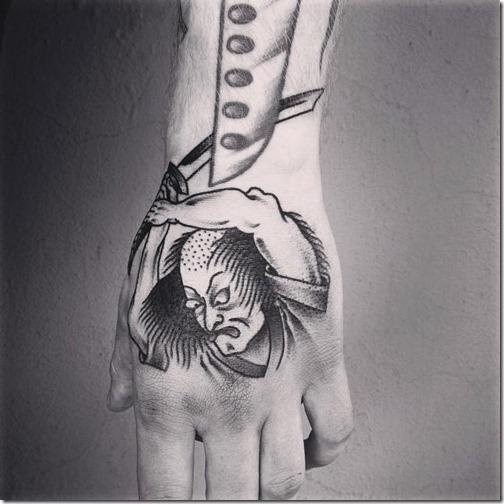 el_noble_guerrero_samurai_en_tonos_de_gris
