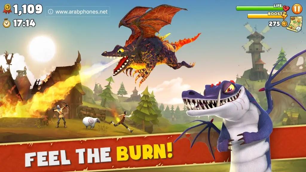 لعبة التنين الجائع Hungry Dragon للاندرويد