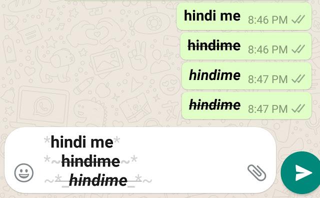 whatsapp text format