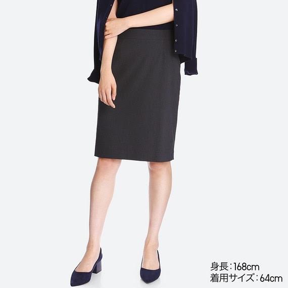 ユニクロ ストレッチタイトスカート +E