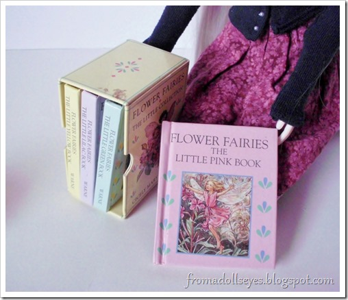 Flower Fairies Little Book Collection, a tiny set of books.  Just the right size for ball jointed dolls.