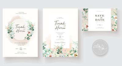 Membuat Undangan Pernikahan Bertema Smooth Pink Flowers | Kaina Studios