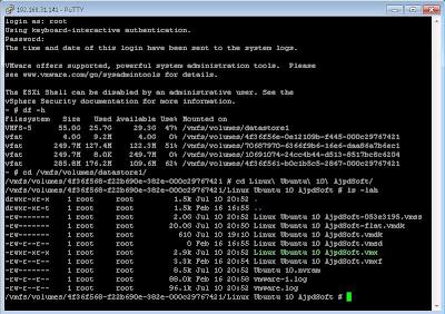 Acceso a servidor VMware ESXi con PuTTY y SSH