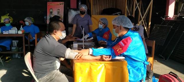 Polres Klungkung Bantu Percepat Program Vaksinasi COVID-19