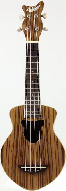 Fishuku Zebrawood Soprano Ukulele