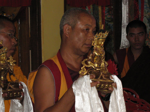 Tenpa Choden during long life puja, Kopan Monastery, June 2011.