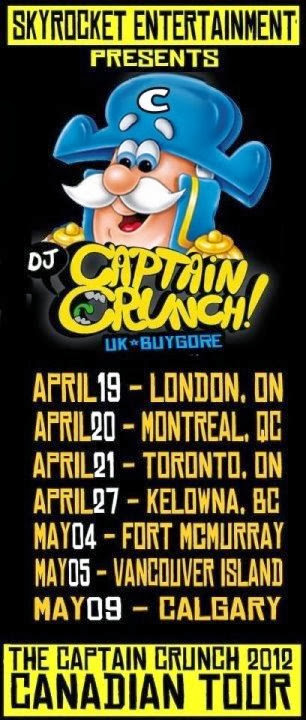 DJ Captain Crunch 2012 Tour