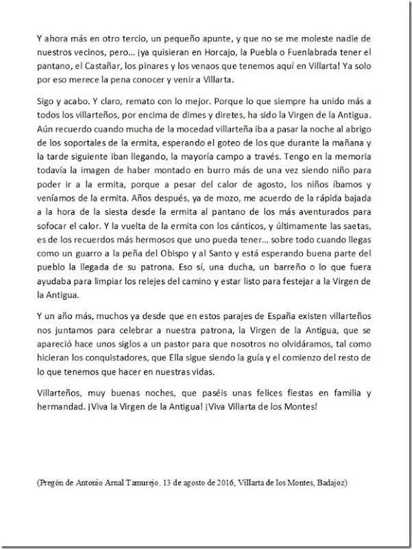 Pregón fiestas Villarta de los Montes 2016 - 3