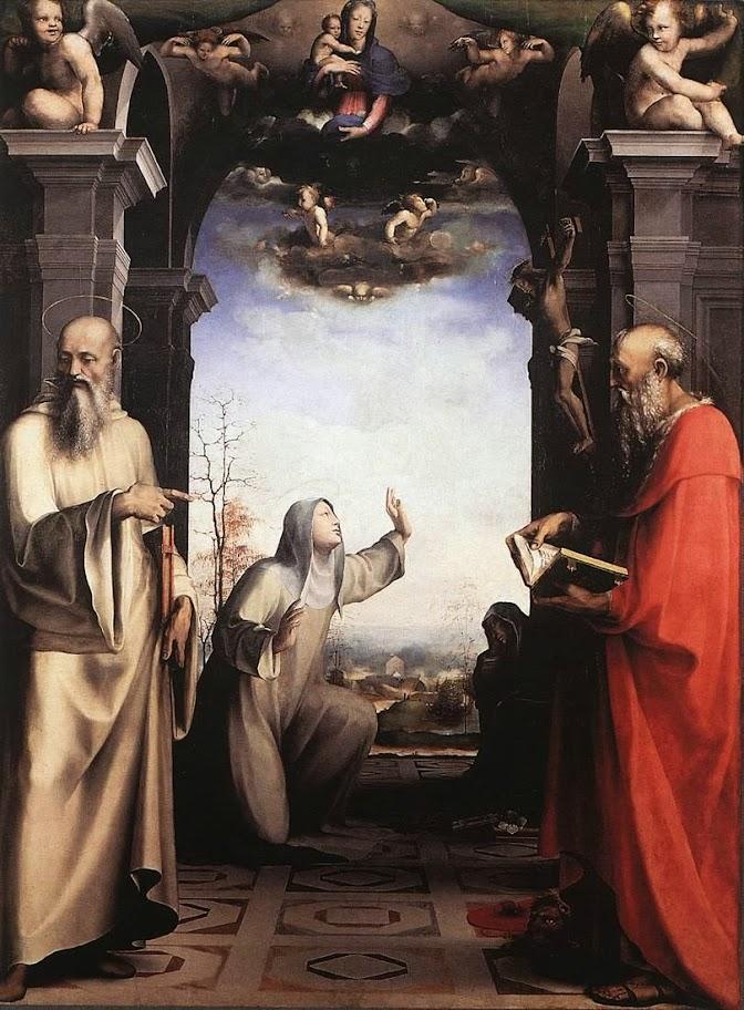Domenico Beccafumi - Stigmatization of St Catherine of Siena