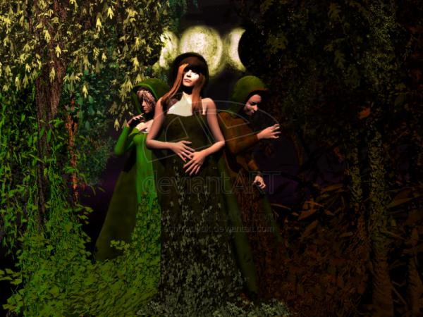 Wiccan Three Goddesses By Echoladyu, Green Witches