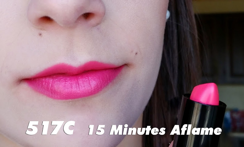 Màu 517C - 15 Minutes Aflame - Son Wet n Wild Silk Finish Lipstick