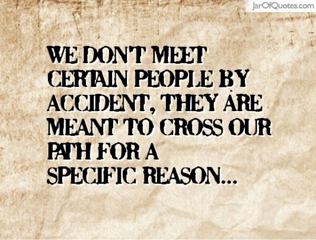 Do People Meet For A Reason