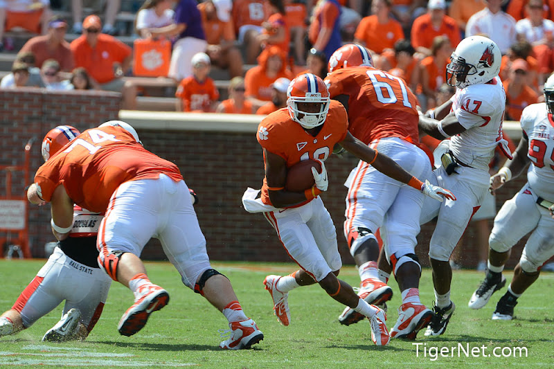 Ball State at Clemson (Second Half) Photos - Charone Peake, Football, Ball State, 2012