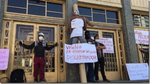 Protestas en la UMSA