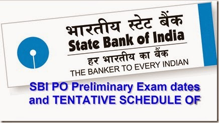 SBI PO Preliminary exam dates 2016