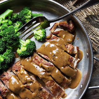 Pork with Indonesian Style Peanut Sauce.