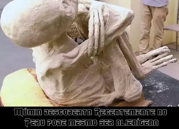 Múmia descoberta Recentemente no Peru pode mesmo ser alienígena