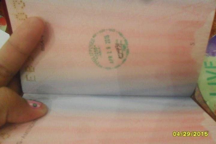 フィリピン人が新規に取得したパスポートに貴重な出国スタンプ